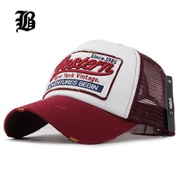 [FLB] Summer Baseball Cap Embroidery Mesh Cap Hats For Men Women Gorras Hombre