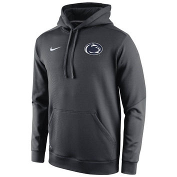 Penn State Nittany Lions Nike 2014 Sideline KO Chain Fleece Therma-FIT Hoodie – Anthracite