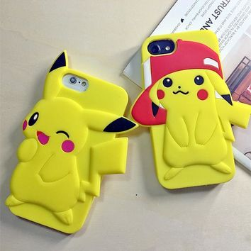 For iPhone X Pikachue s Monsters Soft Silicone Case For iPhone 8 6 6S 7 PlusKawaii Pokemon go  AT_89_9