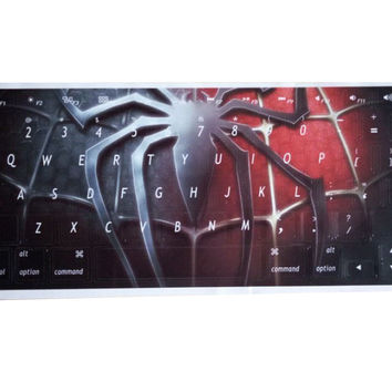 Fashion Ultra-thin Spider-Man Keyboard Stickers / Decals For MacBook Air 13 Inch