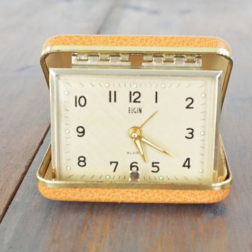 Vintage Elgin Clock,Travel Alarm Clock