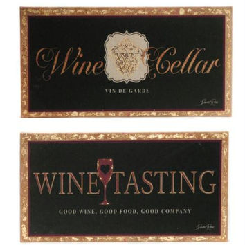 2 Wall Canvases - Winery Motif
