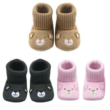 baby children boots shoes cute crochet knit baby shoes non slip soft sole walking shoe  number 1
