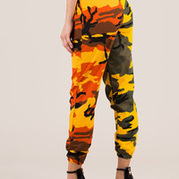 Two Become One Camo Print Joggers