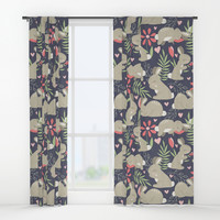 Bunny Garden Window Curtains by Noonday Design