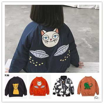 Kids Winter Ufo Christmas Jacket 49