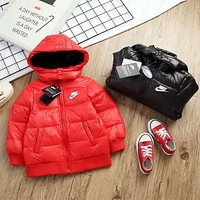 Nike Girls Boys Children Baby Toddler Kids Child Fashion Casual Cardigan Jacket Coat