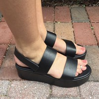 Platform Galore Sandal- Black
