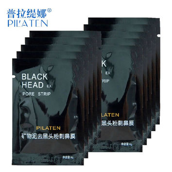 10PCS PILATEN Blackhead Remover Mask Face Care Facial Peeling Nose Pore Cleanser Deep Cleansing Black Head EX Pore Strip