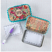 Natural Life Prayer Box - Bucket List Teal