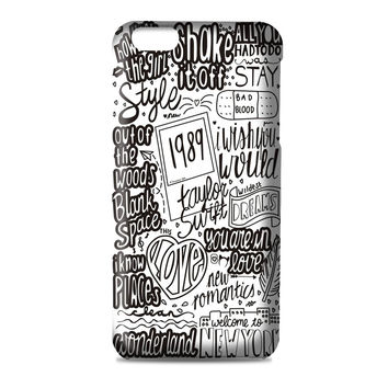 TAYLOR SWIFT LYRIC COLLAGE quotes artwork band 3D Iphone | 4s | 5s | 5c | 6s | 6s Plus | Case