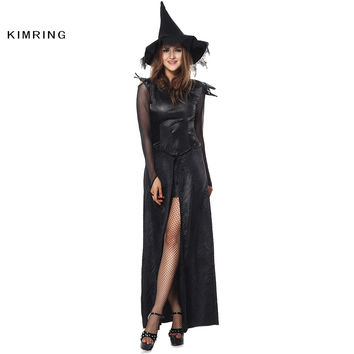 Sexy Witch Halloween Costume Adult Womens Magic Moment Costume Ecstasy Black Halloween Costume Fancy Dress