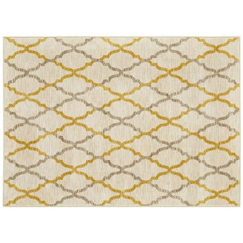 Mohawk Home Refinements Kallista Lattice Rug (Yellow)