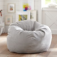 Light Gray Performance Everyday Suede™ Beanbag