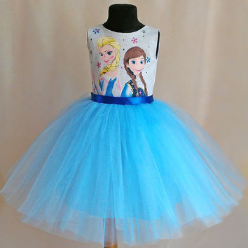 Gentle Disney Frozen Birthday Dress, Elsa Tutu Dress, Anna Birthday Dress, Disney Outfit