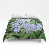 Blue Silky Blossoms Comforters by Gwendalyn Abrams