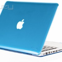 """Kuzy - AQUA Blue Crystal 13-inch Hard Case Cover See Thru for MacBook Pro 13.3"""" (Model: A1278 with or without Thunderbolt) Aluminum Unibody - Aqua"""