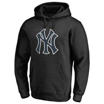 New York Yankees MLB Black Fastball Fleece Pullover Hoodie