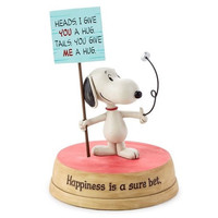Hallmark Peanuts Snoopy Flipping A Coin Figurine