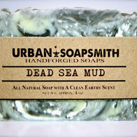 Dead Sea Mud Soap - All Natural Soap, Handmade Soap, Detox Soap, Vegan Soap