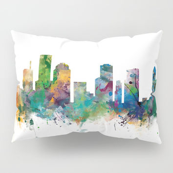 Houston Skyline Pillow Sham by monnprint