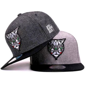 Mens 3D Graphic Geometric Bob Cat Embroidered Adjustable Flat Brim Baseball Snapback Hats