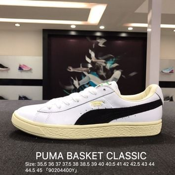 Puma Suede Classic Basket White Blue Casual Shoes Sneaker - 351912-03