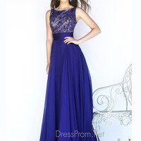 High Neckline Sequin Bodice Formal Prom Gown By Sherri Hill 11170