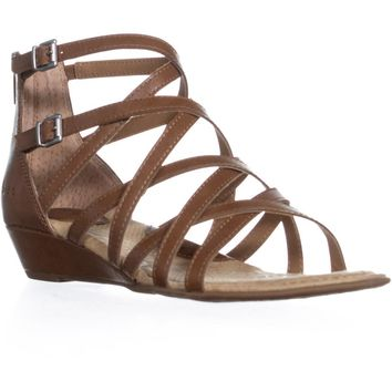 Born Mimi Strappy Gladiator Sandals, Light Brown, 6 US / 36.5 EU