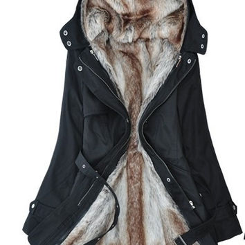 Plus Size Faux fur lining women's warm long fur winter coats Cotton jacket Parkas Coat For Women = 1931608452