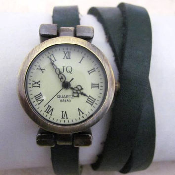 Leather Wrap Women Watch - Ladies Wrist Watch FREE SHIPPING