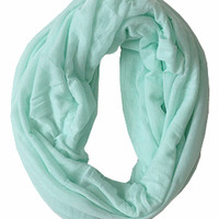 Artfully Simple Infinity Scarf, Mint (Back in Stock)