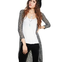 Lightweight Marled Duster Cardi | Wet Seal