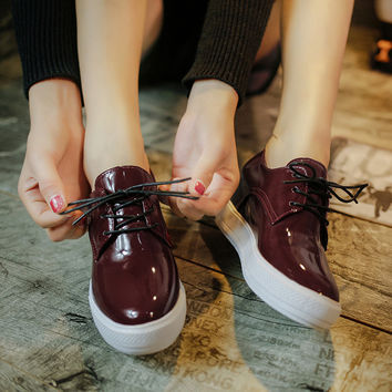 Comfort Stylish On Sale Casual Hot Sale Hot Deal Autumn Round-toe Height Increase Shoes Sneakers [9432945098]