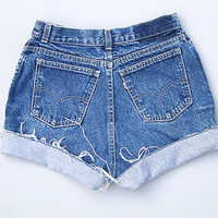 Denim High waisted shorts/high waist shorts, cut off/jean shorts/summer shorts/distressed shorts/plus size/all brands/all sizes/levis