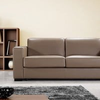 Dual Modern Brown Leather Sofa Bed