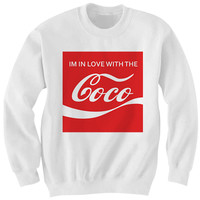 I'M IN LOVE WITH THE COCO SWEATSHIRT COCA-COLA SHIRT FUNNY SHIRTS BAKING SODA #COCO #BAKINGSODA COOL SHIRTS BIRTHDAY GIFTS CHRISTMAS GIFTS