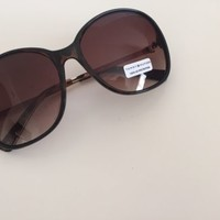 NWOT Tommy Hilfiger Dark Brown and Gold Designer Sunglasses