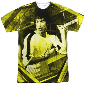 BRUCE LEE STRIPES OFFICIAL LICENSED 3D TEE T-SHIRT