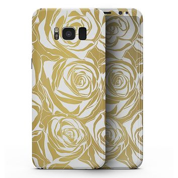 Gold and White Roses - Samsung Galaxy S8 Full-Body Skin Kit