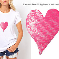 Iron On Heart Patch Applique for DIY Crafts and Home Decor