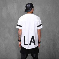 Elongated LA 1/2 Long T Shirt Extended