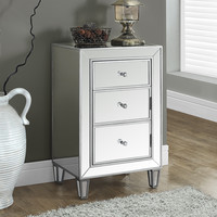 "Brushed Silver/Mirrored 29""H Accent Table"