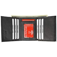 RFID Blocking Men's Lamb Leather Classic Trifold Wallet  RFID 1107 BOX (C)