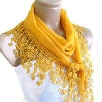 Traditional Turkish-style, Necklace scarves,Headband, scarf, Golden yellow,  fashion 2013, Special Fahion, spring celebration