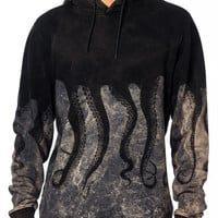 Iuter 15FWOSW06 Hooded Marble Black Sweater