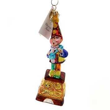 Christopher Radko MERRY MELODIES Glass Ornament Peep Lamb Clown 0101590 Clown