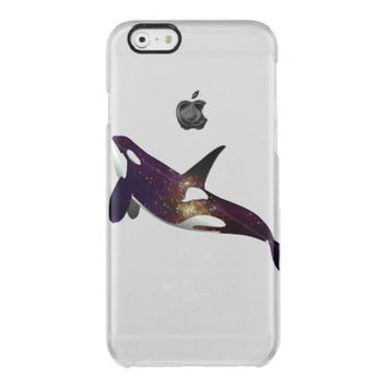 Clear beautiful galaxy stars space orca whale cool uncommon clearly™ deflector iPhone 6 case