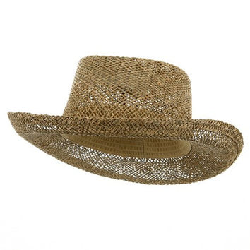 New Gambler Straw Hats-Natural OSFM
