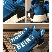 2017 Top quality Human Race Nmd BB0618 Truth Real Boost Laces Can Reflect Light Blue F